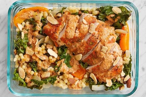 Finish & serve the Roast Chicken & Kale Pasta: