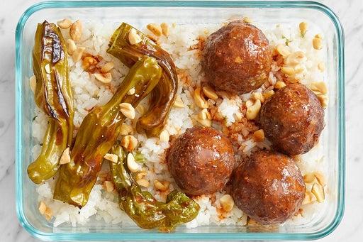 Finish & serve the Baked Meatballs & Slaw: