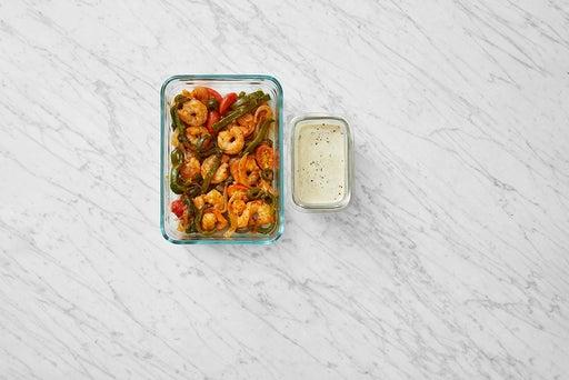 Assemble & Store the Shrimp & Poblano Tacos: