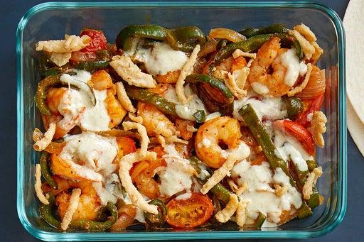 Finish & Serve the Shrimp & Poblano Tacos: