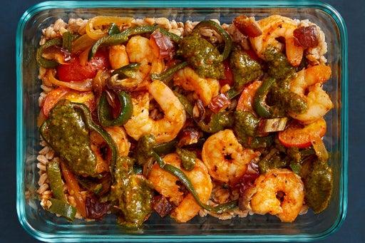 Finish & Serve the Middle Eastern-Style Shrimp: