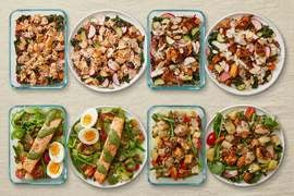 Carb Conscious with Salmon & Seared Chicken