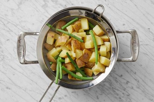 Make the potato salad:
