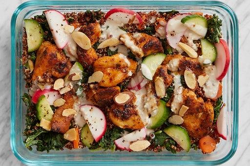 Finish & Serve the Warm Chicken & Kale Salad: