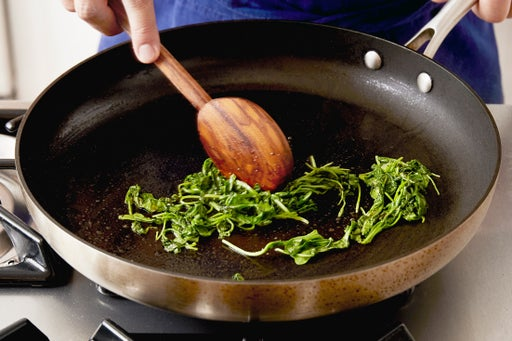 Cook the arugula: