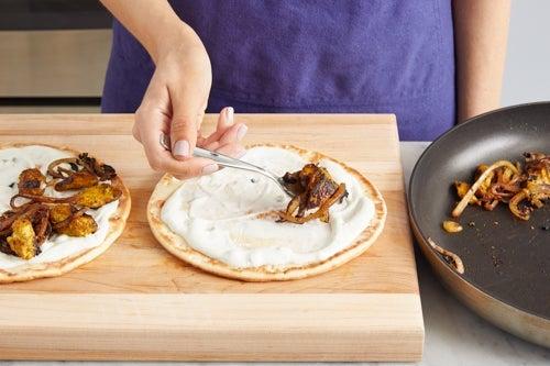 Finish the pitas & serve your dish:
