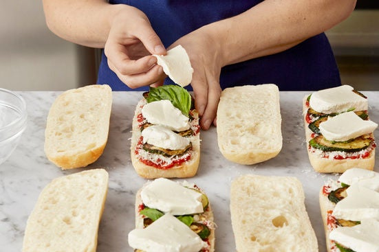 Assemble the paninis: