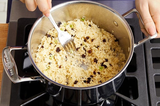 Cook the couscous: