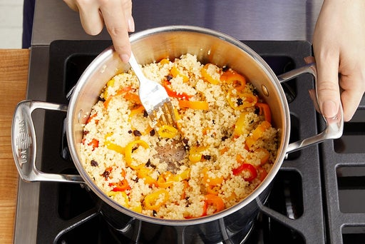 Make the pepper couscous: