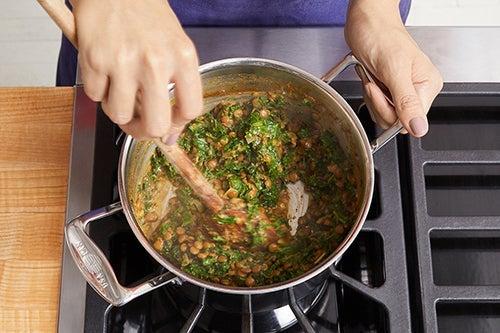 Cook the lentils & kale: