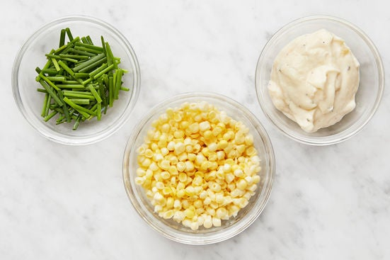 Prepare the remaining ingredients & make the aioli:
