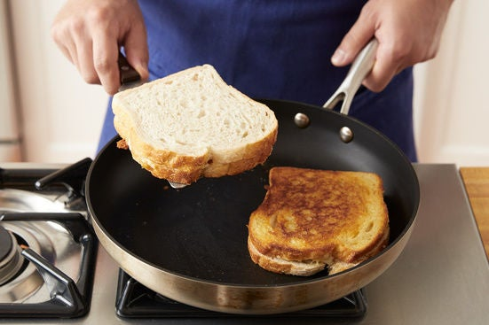 Cook the sandwiches: