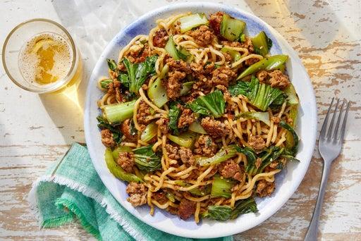 Pork Lo Mein with Vegetables & Sesame Seeds