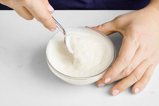 Make the lemon-garlic yogurt: