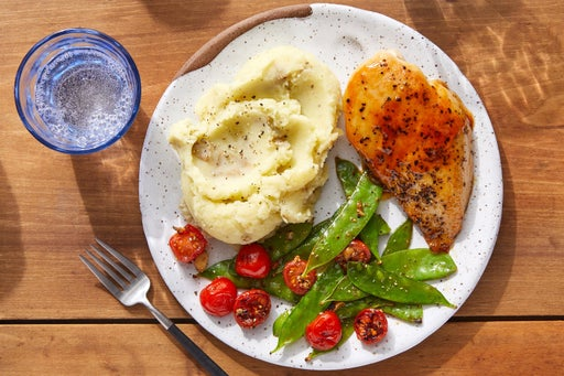 Hot Honey Butter-Glazed Chicken with Mashed Potatoes