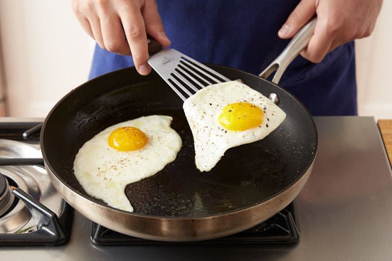 Fry the eggs: