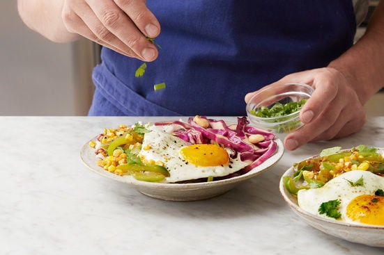Finish the cabbage & plate your dish: