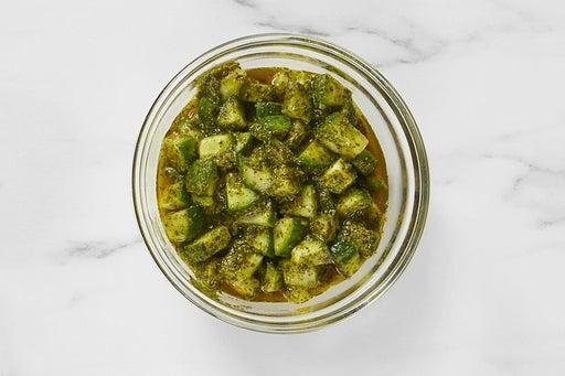 Make the Cucumber-Cilantro Sauce: