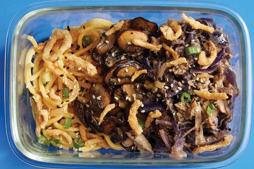 Finish & Serve the Cumin-Sichuan Pork & Noodles: