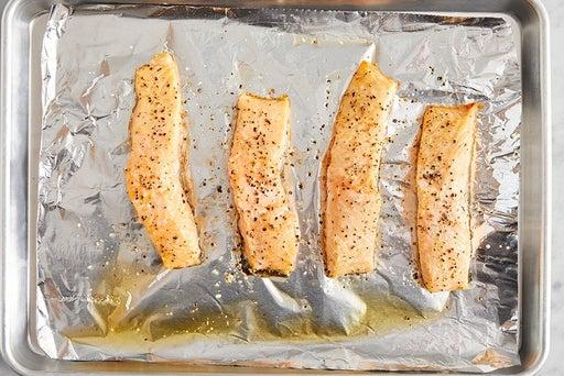 Roast the fish: