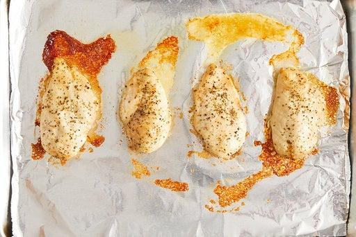 Roast & slice the chicken:
