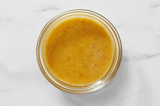 Make the Maple Mustard Dressing: