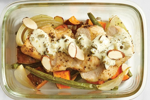 Finish & Serve the Roasted Chicken & Vegetables: