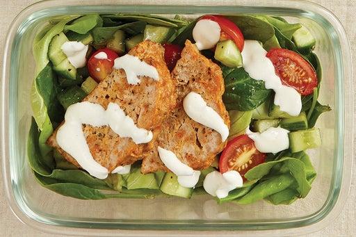 Finish & Serve the Turkey Meatloaf & Green Salad: