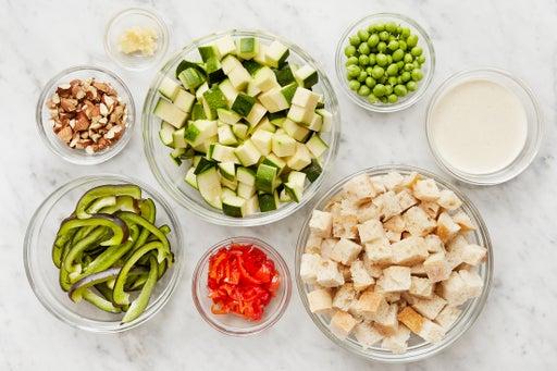 Prepare the ingredients & make the lemon mayonnaise: