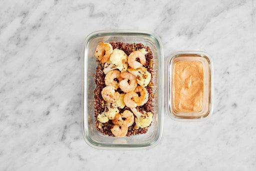 Assemble & Store the Seared Shrimp & Quinoa: