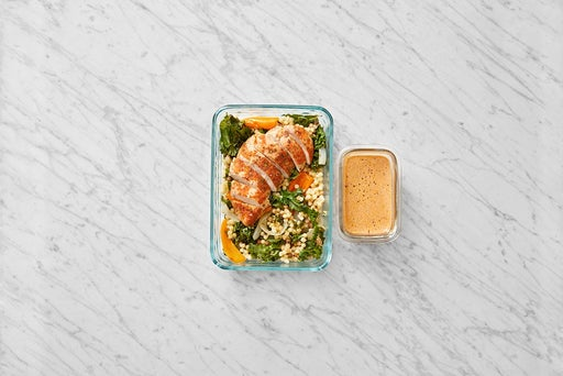 Assemble & Store the Roast Chicken & Kale Pasta: