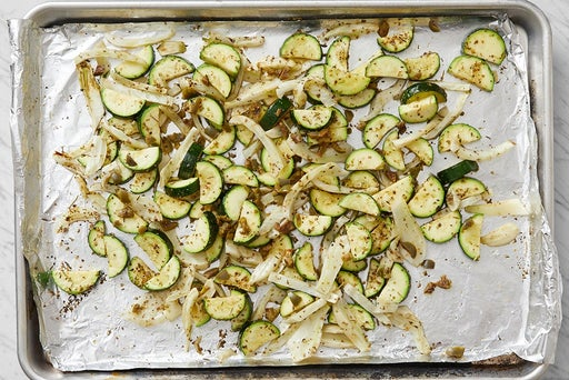 Roast the fennel & zucchini: