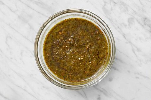 Make the Harissa-Cilantro Sauce:
