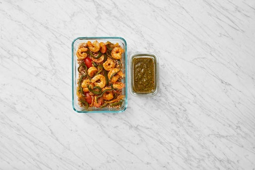 Assemble & Store the Middle Eastern-Style Shrimp:
