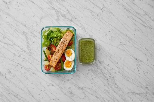 Assemble & Store the Salmon & Potato Salad: