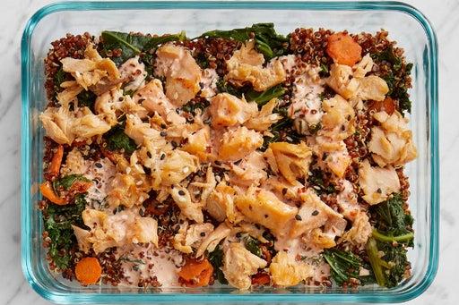 Finish & Serve the Sesame-Ponzu Salmon:
