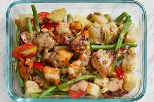 Finish & Serve the Spiced Chicken & Potato Salad: