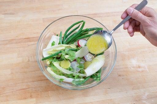 Dress the vegetables & enjoy: