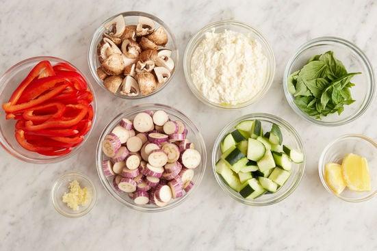 Prepare the ingredients & make the lemon ricotta: