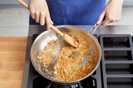 Make the garlic breadcrumbs: