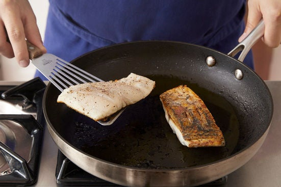 Cook the barramundi: