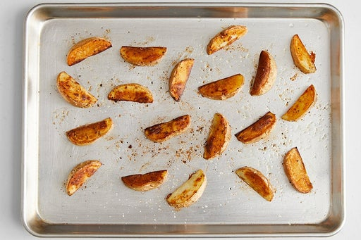 Roast & finish the potatoes: