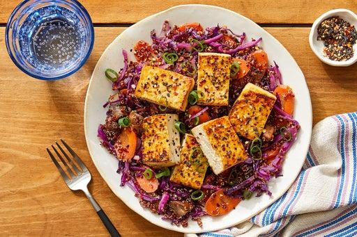 Sesame & Maple-Glazed Tofu with Quinoa & Vegetables