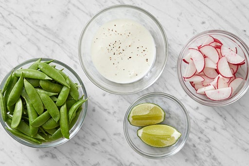 Prepare the ingredients & make the lime mayo: