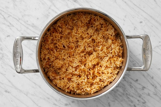 Make the spiced rice:
