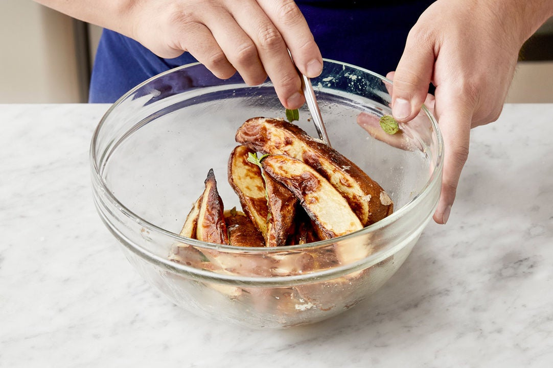 Finish the potatoes:
