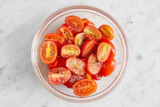 Prepare the tomatoes: