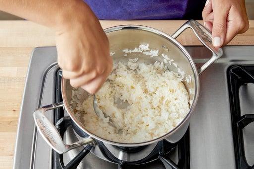 Make the creamy rice: