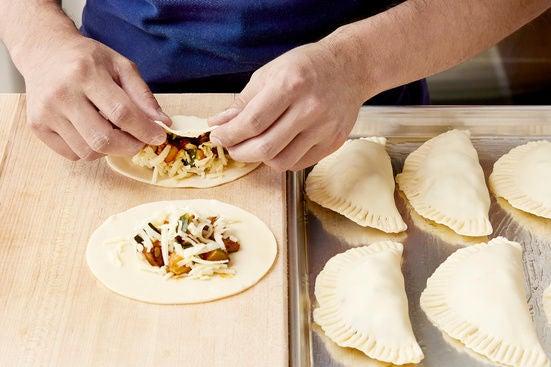 Assemble & bake the empanadas: