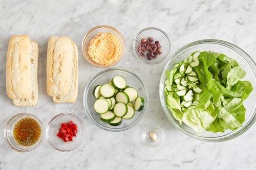 Prepare the ingredients & make the Italian dressing: